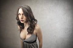 Ilsken kvinna Arkivbilder