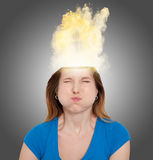 ilsken kvinna Royaltyfri Fotografi