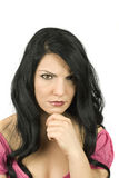 ilsken kvinna Royaltyfria Bilder