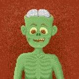 Ilsken levande död - PIXEL Art Illustration Fotografering för Bildbyråer