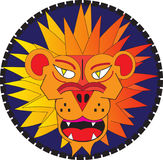 Ilsken lionhead Royaltyfri Illustrationer