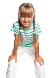 Ilsken liten flicka Royaltyfri Bild