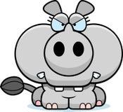 Ilsken noshörning för tecknad film Arkivbild