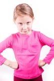 Ilsken olycklig liten flicka Arkivbild