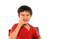 ilsken pojke Fotografering för Bildbyråer
