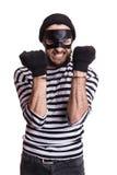 Ilsken rånare med handbojor Royaltyfria Foton