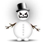 ilsken snowman Arkivbild