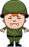 Ilsken soldat Boy vektor illustrationer