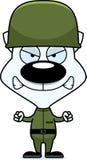 Ilsken soldat Kitten för tecknad film Royaltyfri Bild