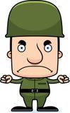 Ilsken soldat Man för tecknad film Arkivfoto