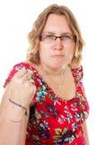 ilsken ståendekvinna Royaltyfria Bilder