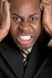 ilsken svart man Fotografering för Bildbyråer