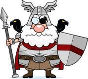 Ilsken tecknad film Odin royaltyfri illustrationer
