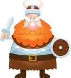 Ilsken tecknad film Viking Arkivfoto