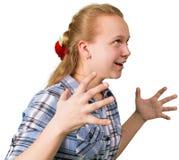 Ilsken tonårig flicka Arkivbild