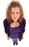 ilsken tonåring Royaltyfria Bilder