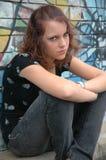 ilsken tonåring royaltyfri fotografi