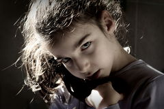 Ilsken ung flicka Royaltyfria Foton