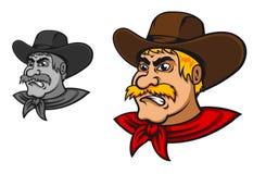 Ilsken västra cowboy Arkivfoton