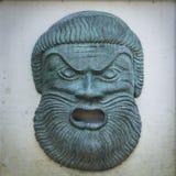 Ilsken Zeus statyframsida Royaltyfri Foto