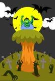 ilsken zombie Royaltyfri Fotografi