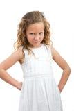 ilsket barn för uttrycksframsidaflicka Arkivfoto