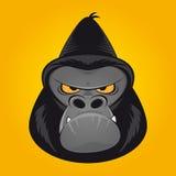 Ilsket gorillahuvud Arkivfoto