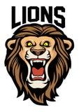 Ilsket lejonhuvud stock illustrationer