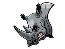 Ilsket noshörninghuvud Arkivbild
