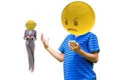 ilsket och skratta emoji stock illustrationer