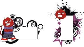 Ilsket rött för halloween för demonungetecknad film utrymme kopia vektor illustrationer