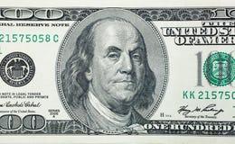 Ilskna Benjamin Franklin Arkivbild