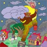 Ilskna Cyclops Stock Illustrationer