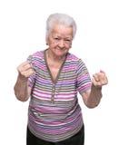 Ilskna danandenävar för gammal kvinna Royaltyfri Fotografi