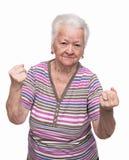 Ilskna danandenävar för gammal kvinna Arkivfoton