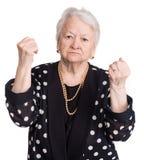 Ilskna danandenävar för gammal kvinna Royaltyfria Foton