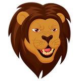Ilskna Lion Head Cartoon Arkivfoto