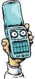 Ilskna mobila Flip Phone Royaltyfri Bild