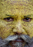 Ilskna Sadhu Monk Arkivbilder
