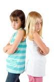 ilskna systrar två Fotografering för Bildbyråer