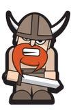 ilskna viking royaltyfri illustrationer
