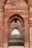 Iltutmish tomb in the complex of Qutub Minar with intricate design and calligraphy Stock Photo