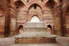Iltutmish tomb in the complex of Qutub Minar Royalty Free Stock Photo