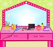 Ilustration hairdresser beauty utensils iron brushes brush royalty free stock photo