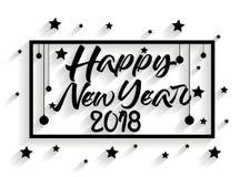 Ilulustration Vektor des guten Rutsch ins Neue Jahr 2018 Lizenzfreie Stockfotografie