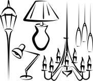 Iluminação ilustração stock