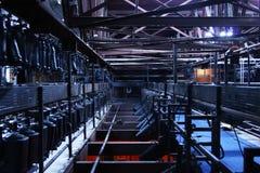 Iluminação aérea do estágio do teatro fotografia de stock royalty free