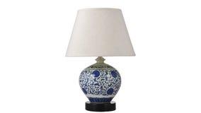 Iluminação cerâmica da mesa fotografia de stock royalty free