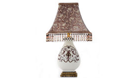 Iluminação cerâmica luxuosa da mesa imagens de stock