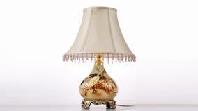 Iluminação clássica luxuosa da mesa foto de stock